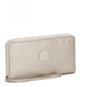 Kipling  IMALI Metallic Zip Around Wallet NWT